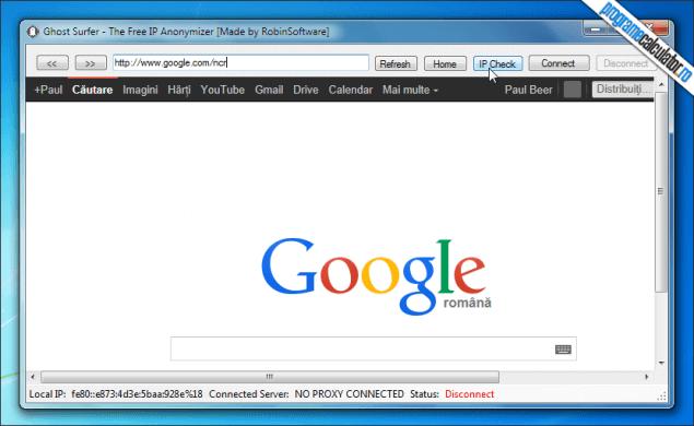 1-Ghost Surfer-interfata-browser