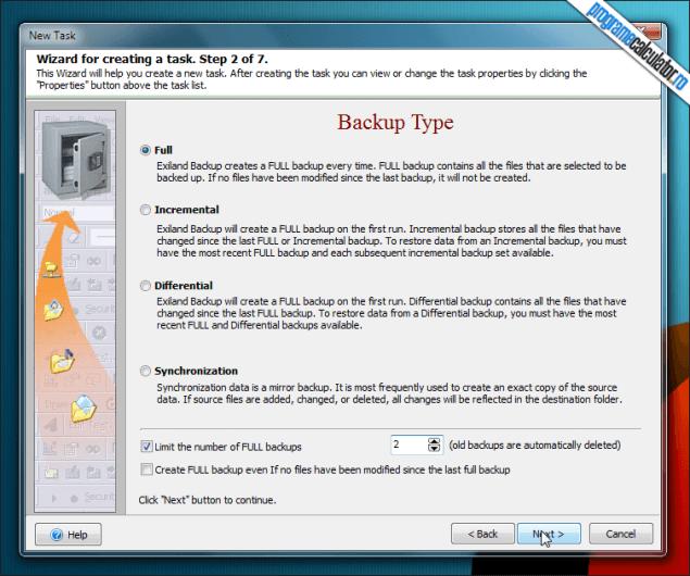 Exiland Backup Free-tip-backup
