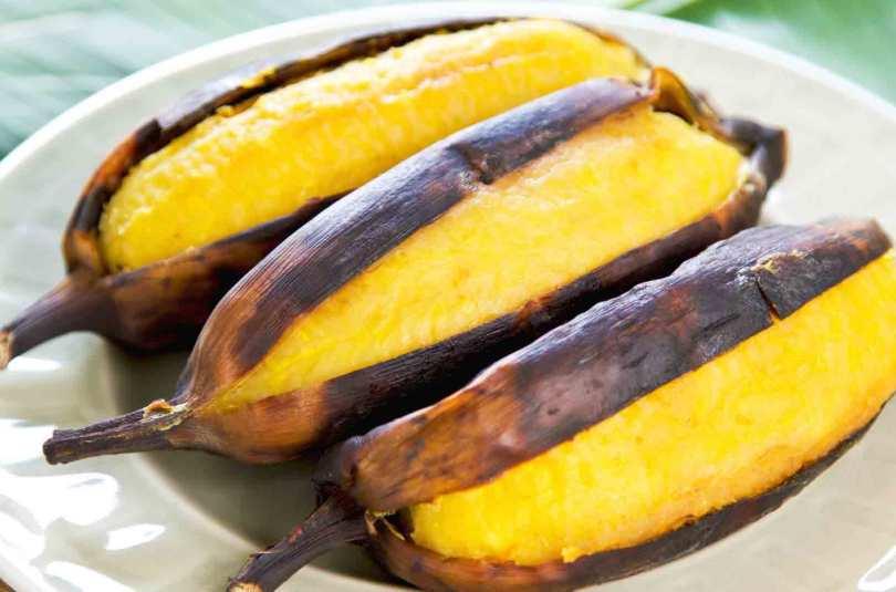 Banane plantain grillée