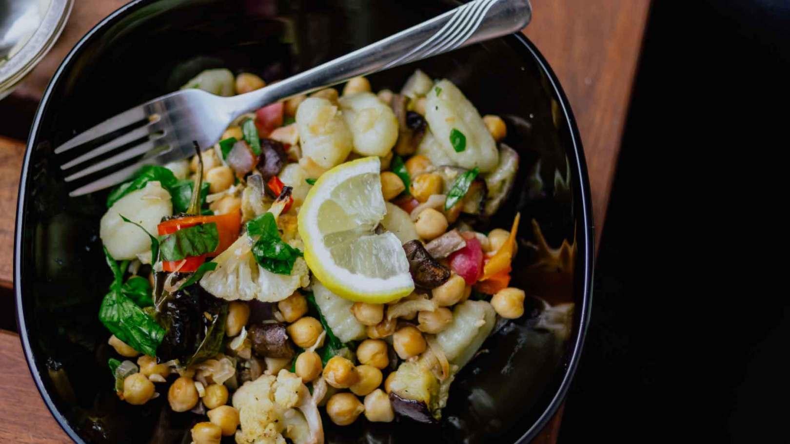 Salade croquante de pois chiches