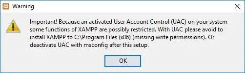 xampp warning controls