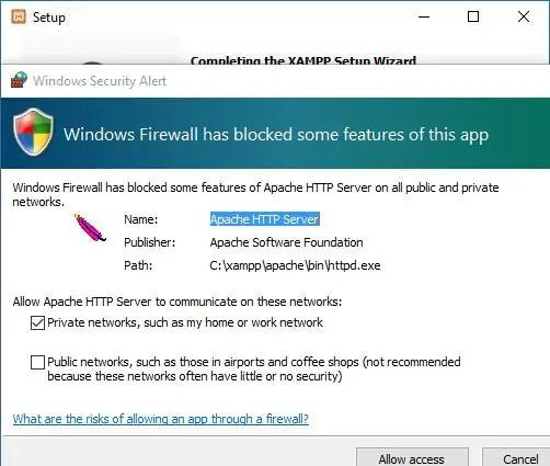 firewall allow access
