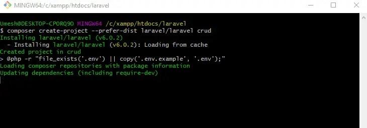 Laravel 6 Create Project