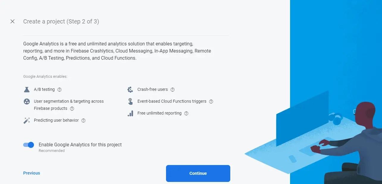Allow Google Analytics in Firebase