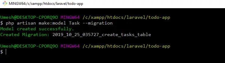 Laravel Passport Task Model