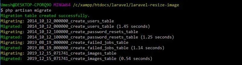 Migration For Laravel 6 Resize Image