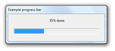 Windows Progress Bar Example