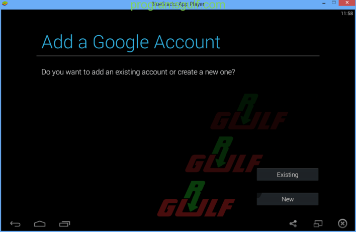 add google account to bluestacks