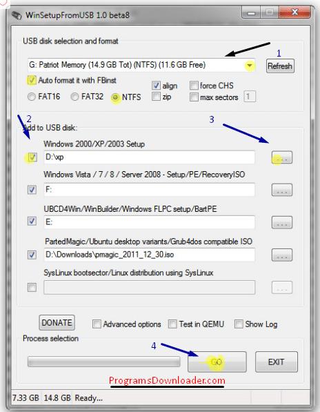 تحميل برنامج حرق الويندوز علي فلاشة Winsetupfromusb موقع
