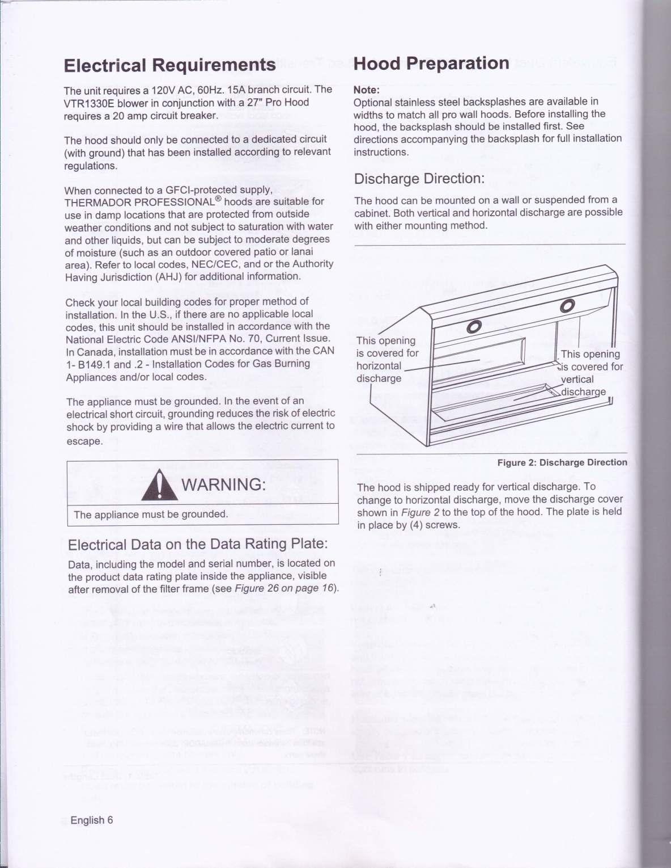 Thermador Ph Series Kitchen Hood Installation Manual