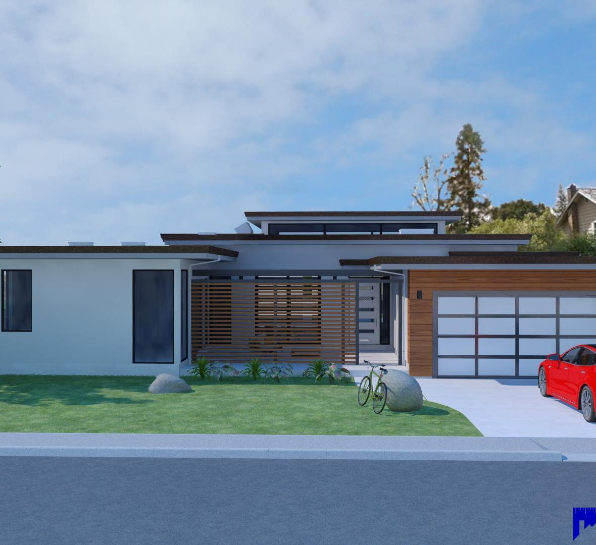 Modern single family residence