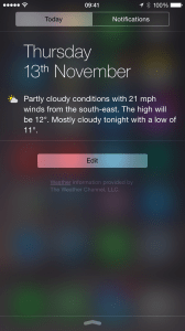 iOS 8 Today View Widget