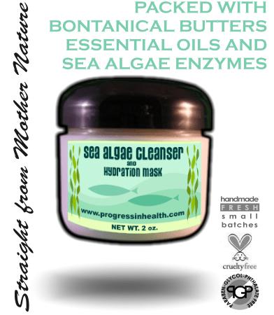 Organic Mineral Sea Algae  Facial Mask & Cleanser