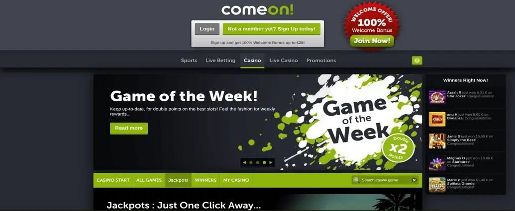 ComeOn! Review