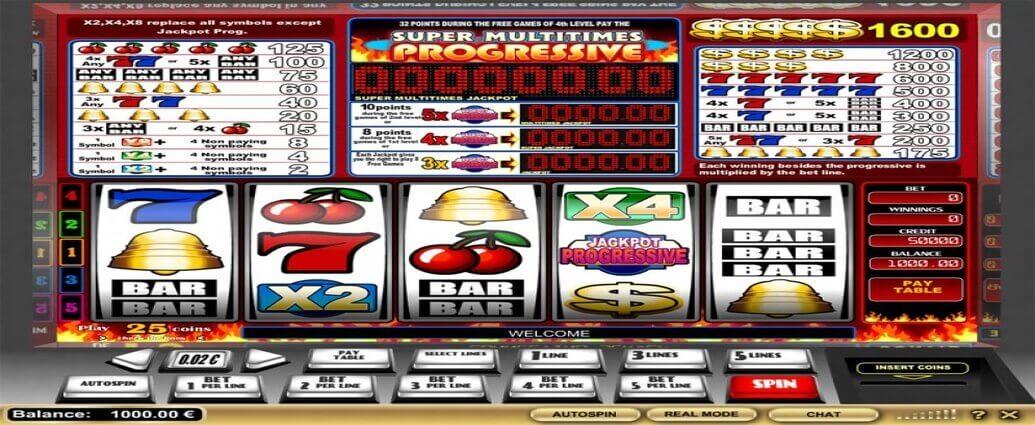 Super Multitimes Progressive Slot