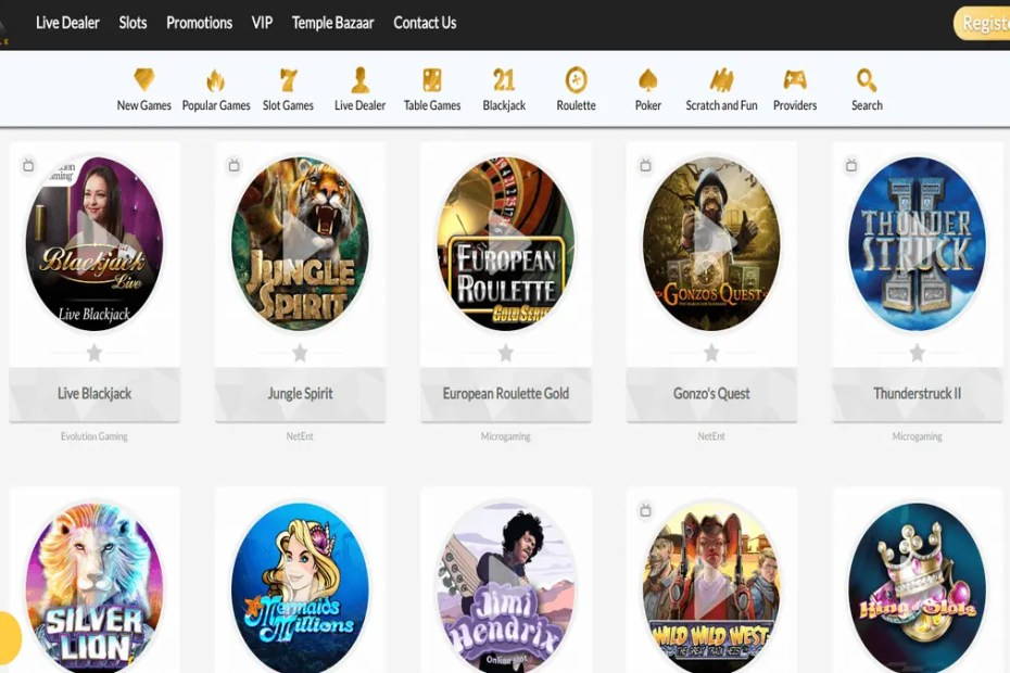 TempleNile Casino review
