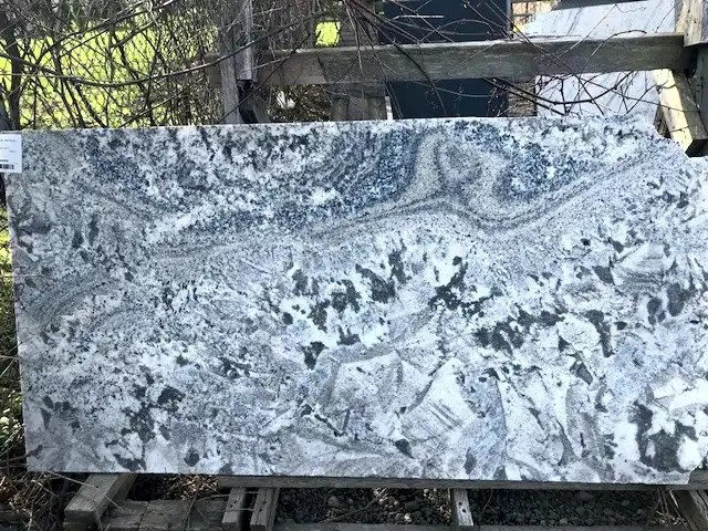 White granite with dark granite undertones
