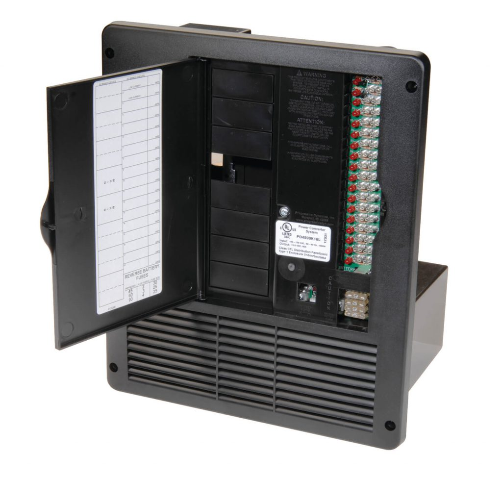 hight resolution of all in one 240v 50 amp ac dc power distribution panelrv electrical fuse box