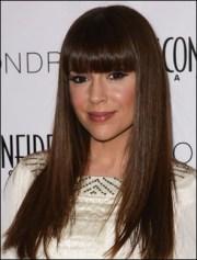 alyssa milano long straight hair