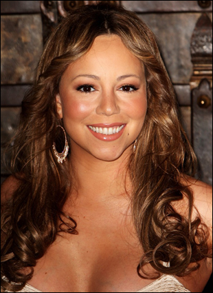 Mariah Carey With Long Curly Hairstyle