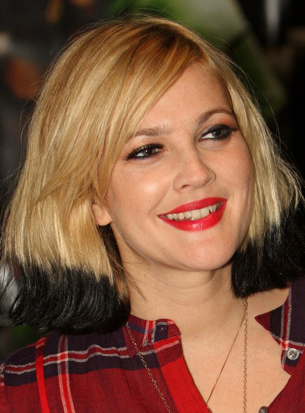 Drew Barrymore Dips Her Hair In Black Dye