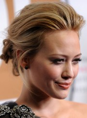 hilary duff's pulled- updo