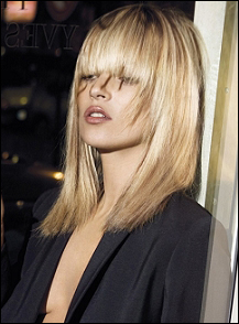 Kate Moss with Layer Hairstyle