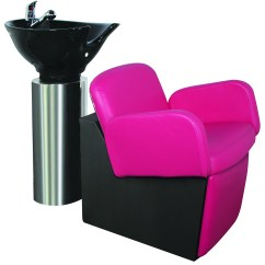 Pink Salon Styling Chair Ohio State Loire Lo 70 Kaemark Owi Stainless Steel Bowl