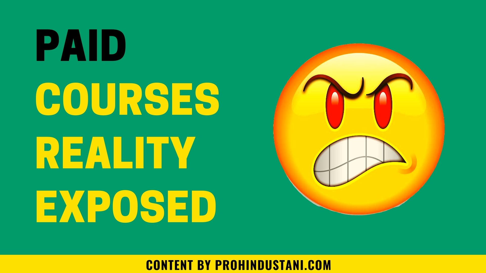 paid course reality