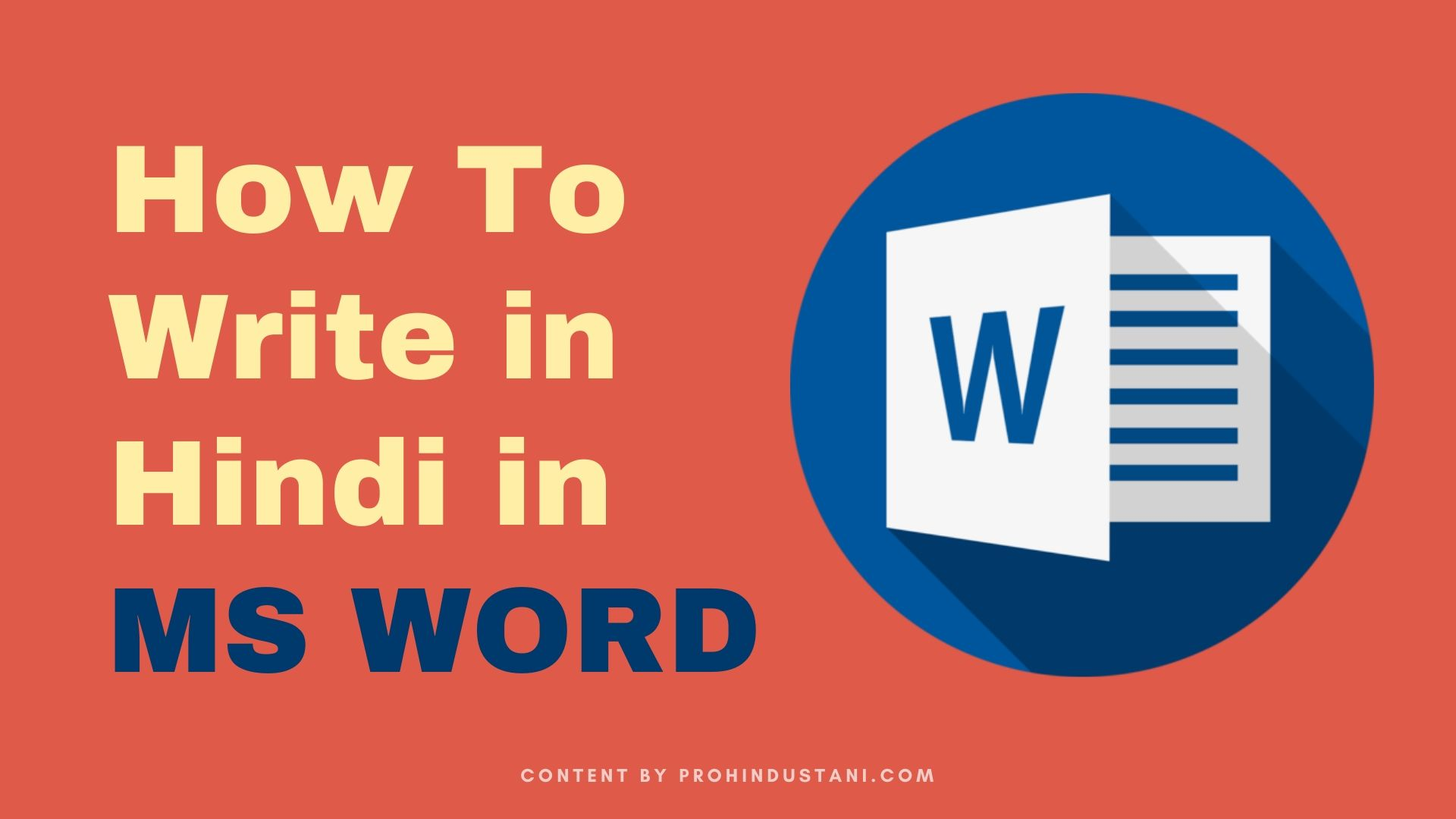 How to write in hindi in ms word