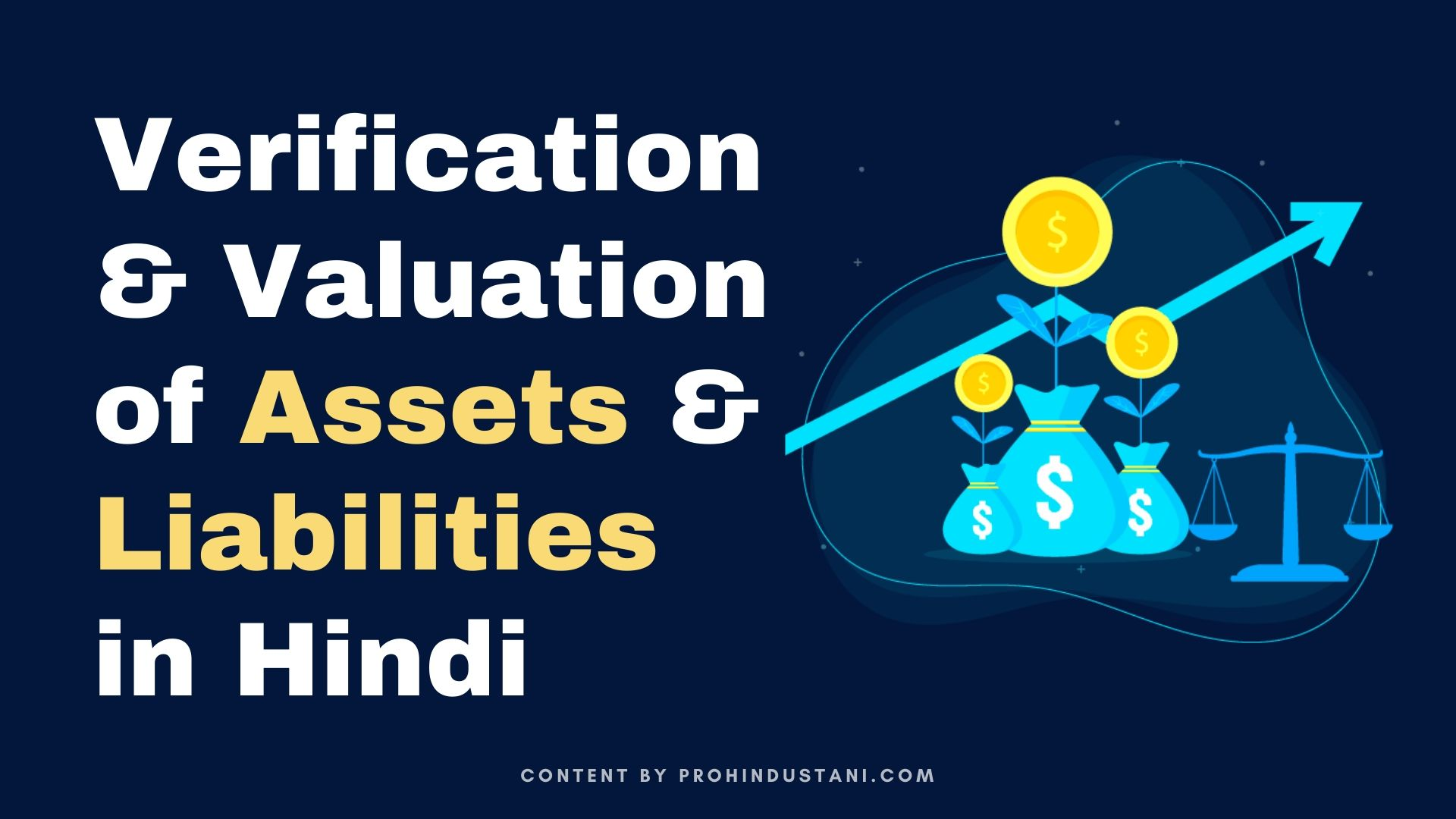Verification & Valuation of Assets & Liabilities in Hindi