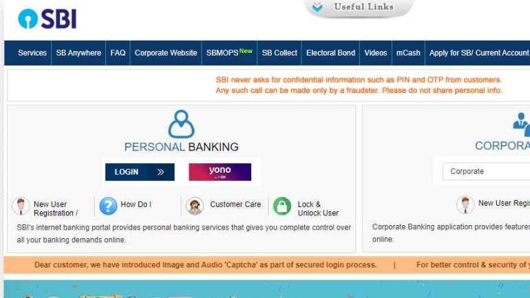 sbi net banking homepage