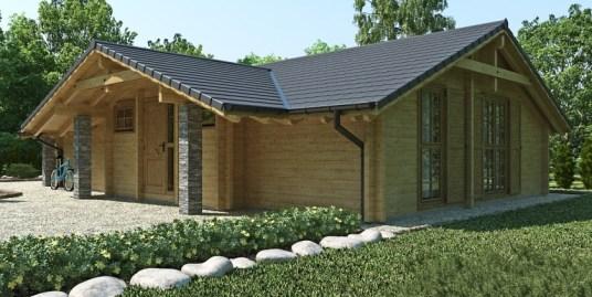 Proiect de Casa cu parter din lemn 379