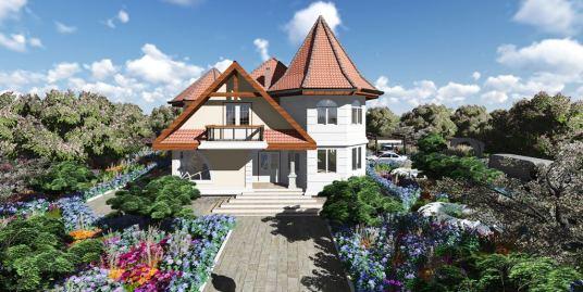 Proiect de Casa  cu Demisol,Parter si Mansarda