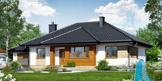 Proiect de casa cu parter, garaj si terasa de vara