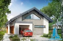 Proiect de casa cu parter si garaj pentru un automobil