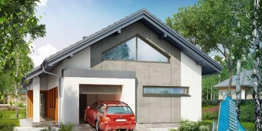 Proiect de casa cu parter si garaj pentru un automobil-100590