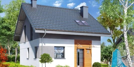 Proiect de casa cu parter mansarda si terasa – 100593