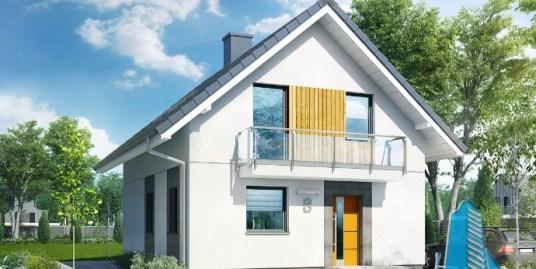 Proiect de casa cu parter mansarda -100595