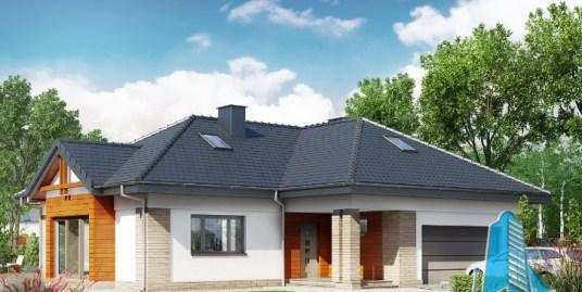 Proiect de casa cu parter si garaj pentru doua automobile-100609