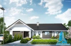 Проект жилого дома с партером и гаражом для одного автомобиля