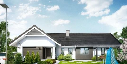 Proiect de casa cu parter si garaj pentru un automobil-100613