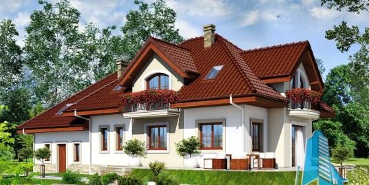 Casa de locuit cu mansarda si garaj pentru doua automobile-100564