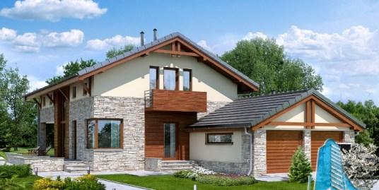 Proiect de casa cu etaj si garaj pentru doua automobile-100689