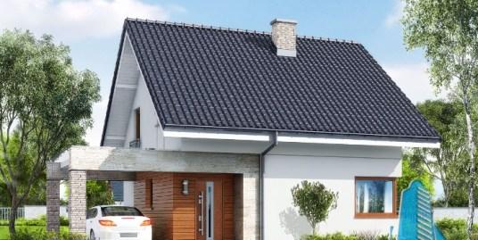 Proiect de casa cu parter si mansarda -100716