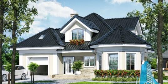 Proiect de casa cu parter, mansarda si garaj pentru un automobil-100696