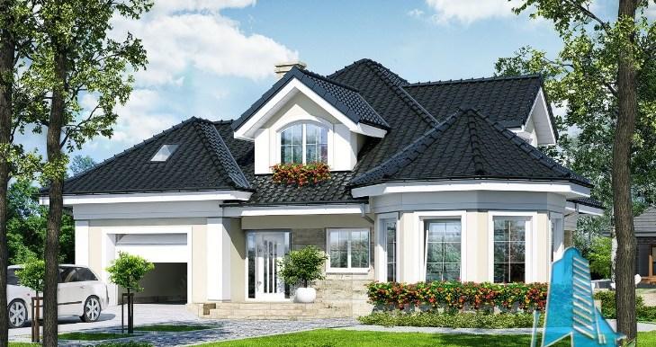 Proiectul de casa de locuit cu parter mansarda si garaj for Proiecte case cu garaj si mansarda