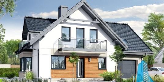 Proiect de casa cu parter, mansarda si garaj pentru un automobil-100657