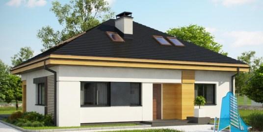 Proiect de casa cu parter si mansarda -100759