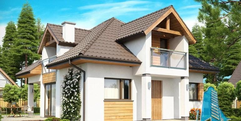 Proiect de casa cu parter, mansarda 1